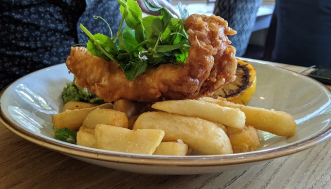 Cod and chips, the Star Inn