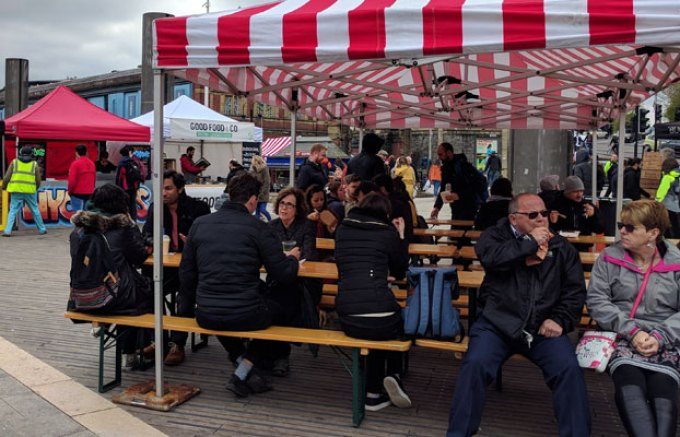 Harbourside street food