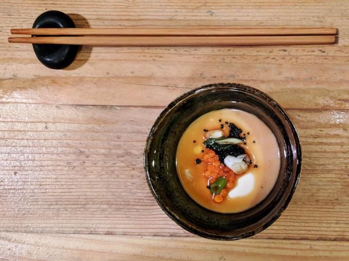 Silken tofu and caviar