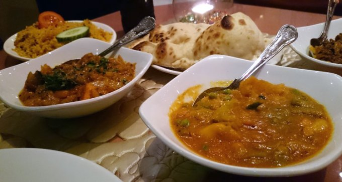 Vegetable curry and baigan bharta