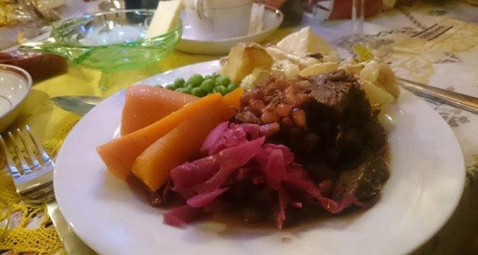 Aromatic pulled roast lamb