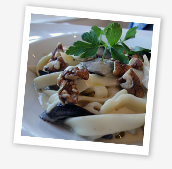 Wild mushroom and walnut tagliatelle
