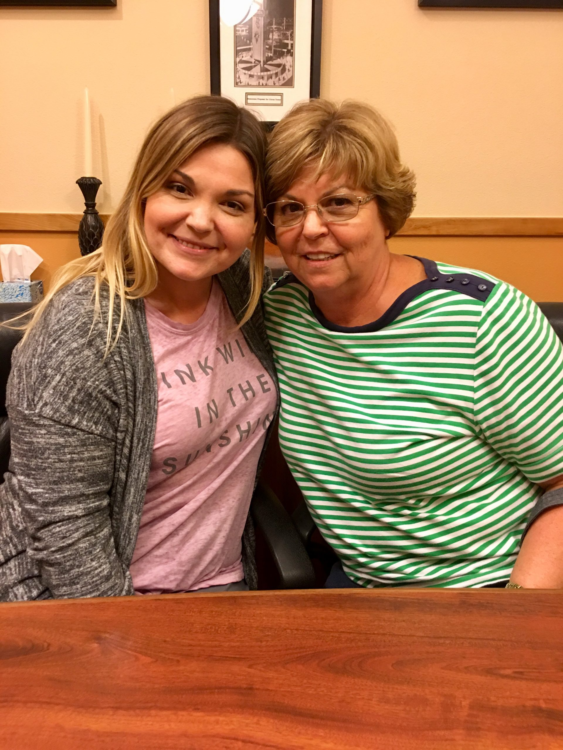 Stacey and her mother smile after a successful closing!
