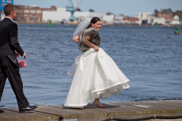 Bride walks the plank! Cathy Case Photography