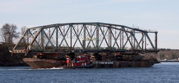Moran Tugs with Memorial Bridge