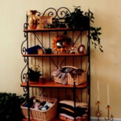 Little Bakers Kitchen Black Subway Tile The Many Amazing Uses Of A Baker's Rack - Matt And Shari