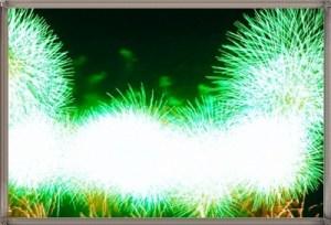 明るい花火