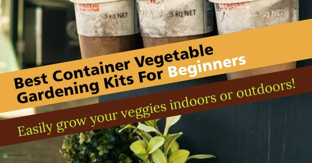 Container Vegetable Gardening Kits Featured Image