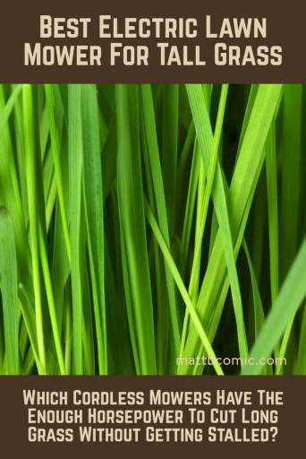 Best Electric Lawn Mower For Tall Grass