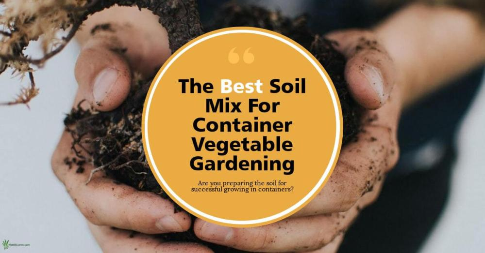 Ideal Soil Mix For Container Vegetable Gardening Wide Post Graphic