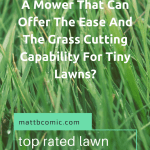 Top Rated Lawn Mowers For Small Yards