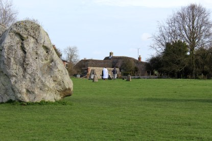 Avebury Stone Circle remains popular among pagans, although we didn't approach these folks, so maybe they're doing something else.