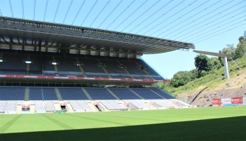 View of the visitors' stands.