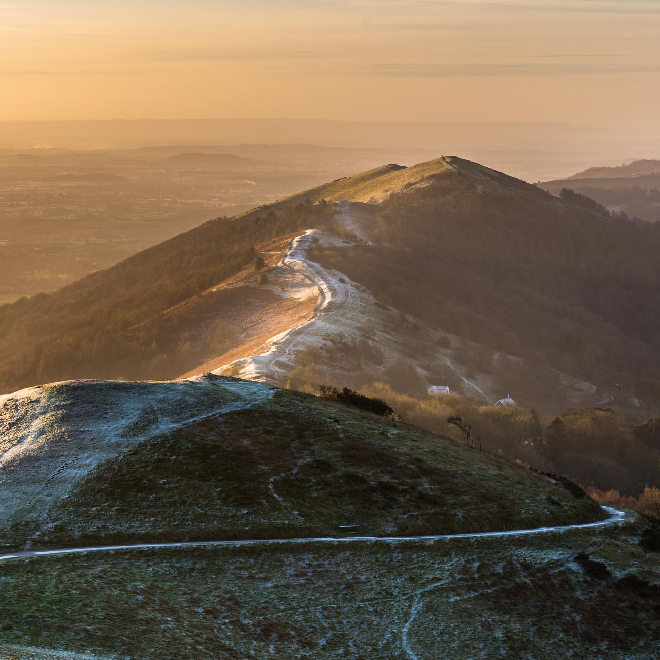 Sunrise on the Malvern Hills