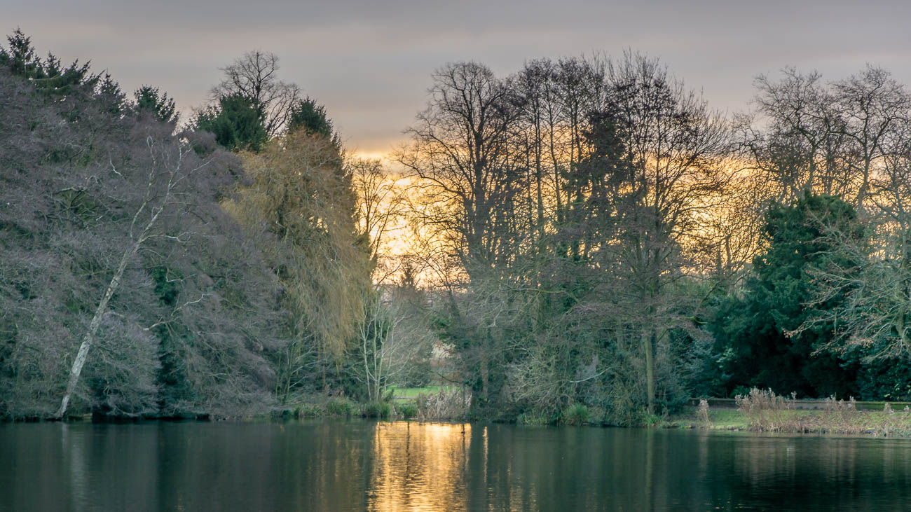 Sunrise at Himley Hall in The Black Country