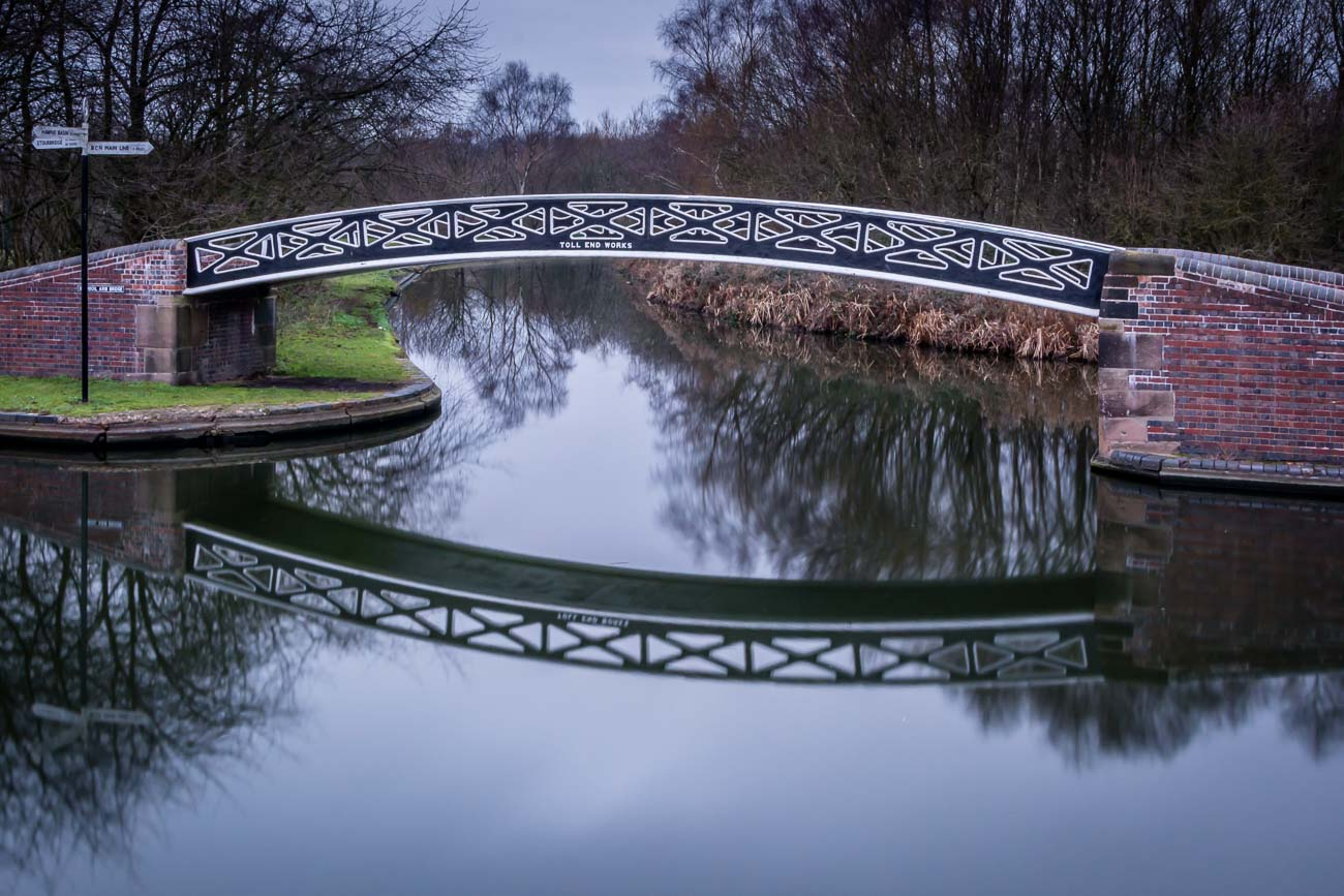 Toll End Works Canal Bridge in The Black Country
