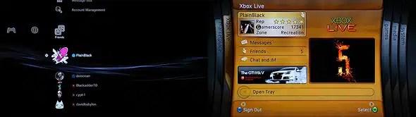 XrossMediaBar (XMB) vs Dashboard