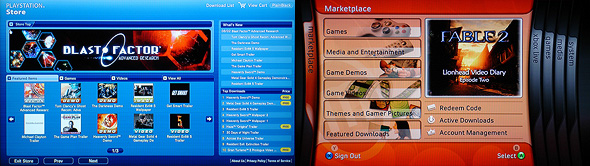 PlayStation Store vs Xbox Live Marketplace