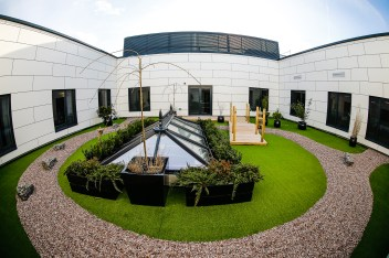 The Japanese roof Garden. New One Healthcare Hospital, Ashford