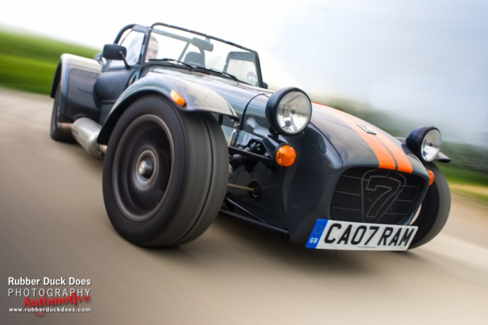 Caterham shot for Car Throttle
