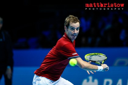 Barclays ATP World Finals. Group B Match between Juan Martin Del