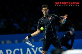 Barclays ATP World Finals. Group B singles match between Novak D