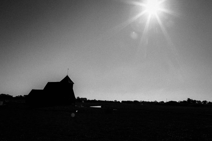 Grainy B&W whats not to like? - Fairfield Church, New Romney - 30th September 2015