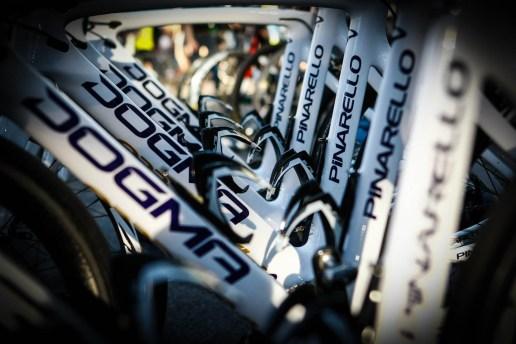 Team Wiggins Pinerello bikes