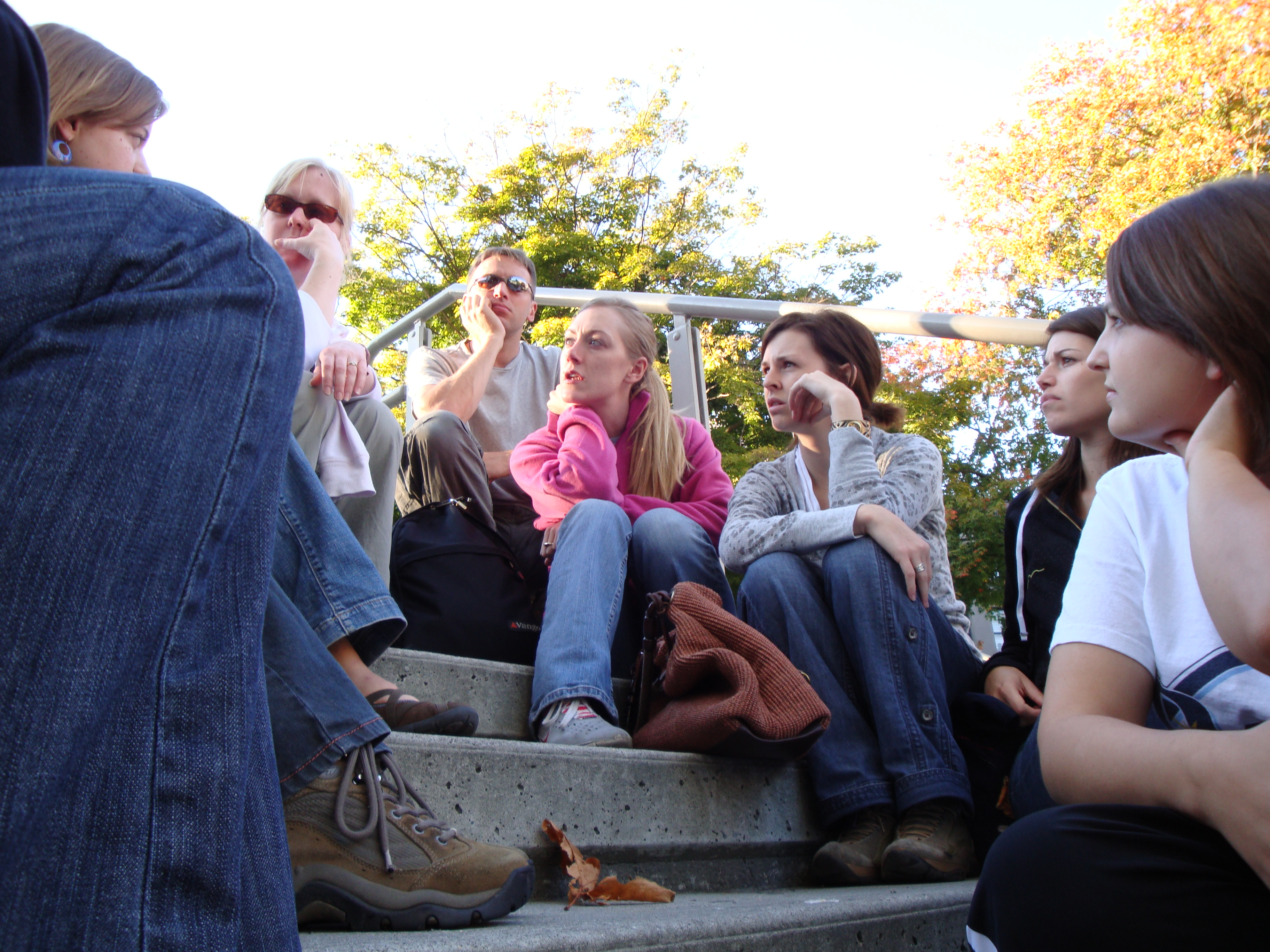 Discussing God's presence in the DTES at Victoria Park