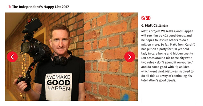 Matt Callanan Independent Happy List 2017