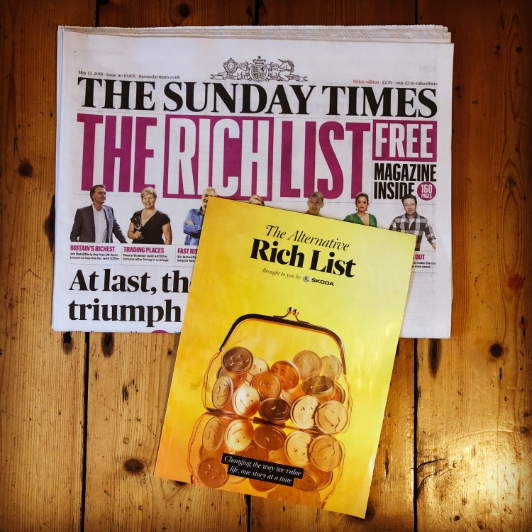 The Sunday Times Alternative Rich List Matt Callanan We Make Good Happen Tenner4Good