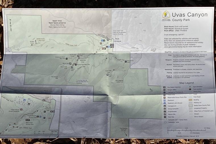 Uvas Canyon County Park - Trail Map