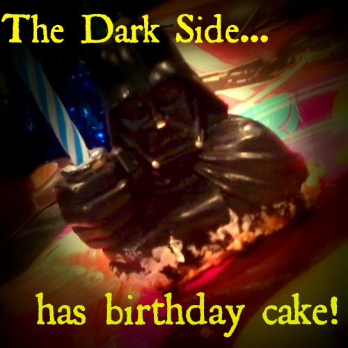 Dark Side has birthday cake