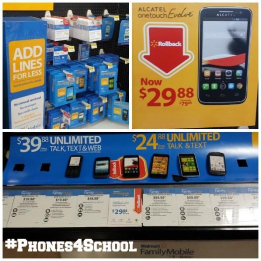 Walmart #Phones4School Collage