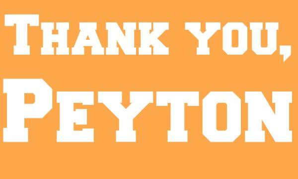 Thank You Peyton