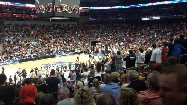 Villanova fans at the 2016 Elite Eight game