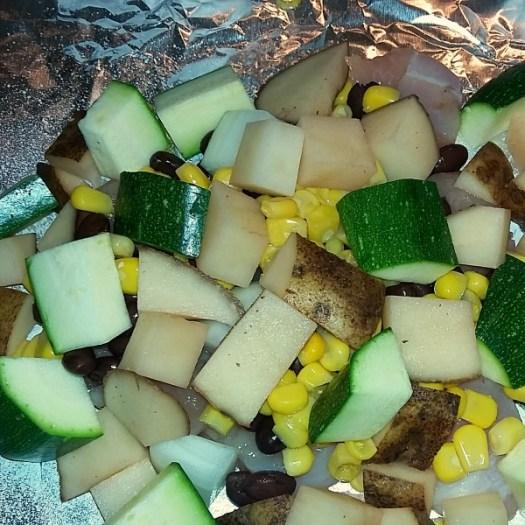 Basic Ingredients - Southwest Chicken Foil Dinner [AD] #KingOfFlavor