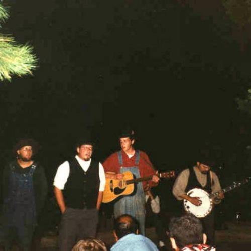 Campfire at Crater Lake Camp at Philmont 1996