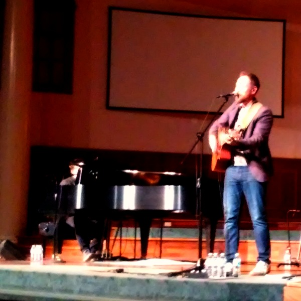 Andrew Peterson on stage in Plainfield Indiana