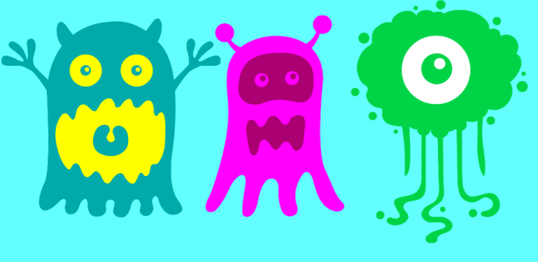 screaming preschool monsters