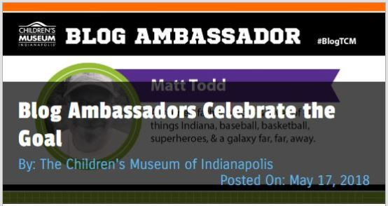 Matt Todd's Blog Ambassador post about soccer for The Children's Museum of Indianapolis #blogTCM
