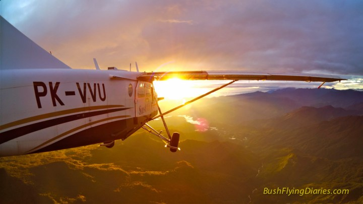 Stunning sunrise out of Wamena, Papua