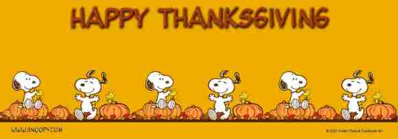 Happy Thanksgiving from Snoopy