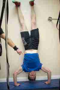 Matt's handstand push-up.