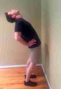Standing Hyperextension Position