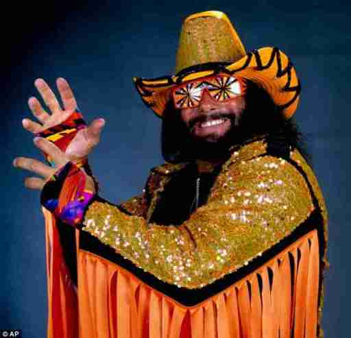 Picture of the professional wrestler, Macho Man Randy Savage