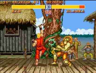 Street Fighter Ken Landing An Uppercut