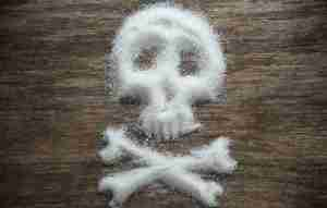 Sugar in shape of skull and crossbonues