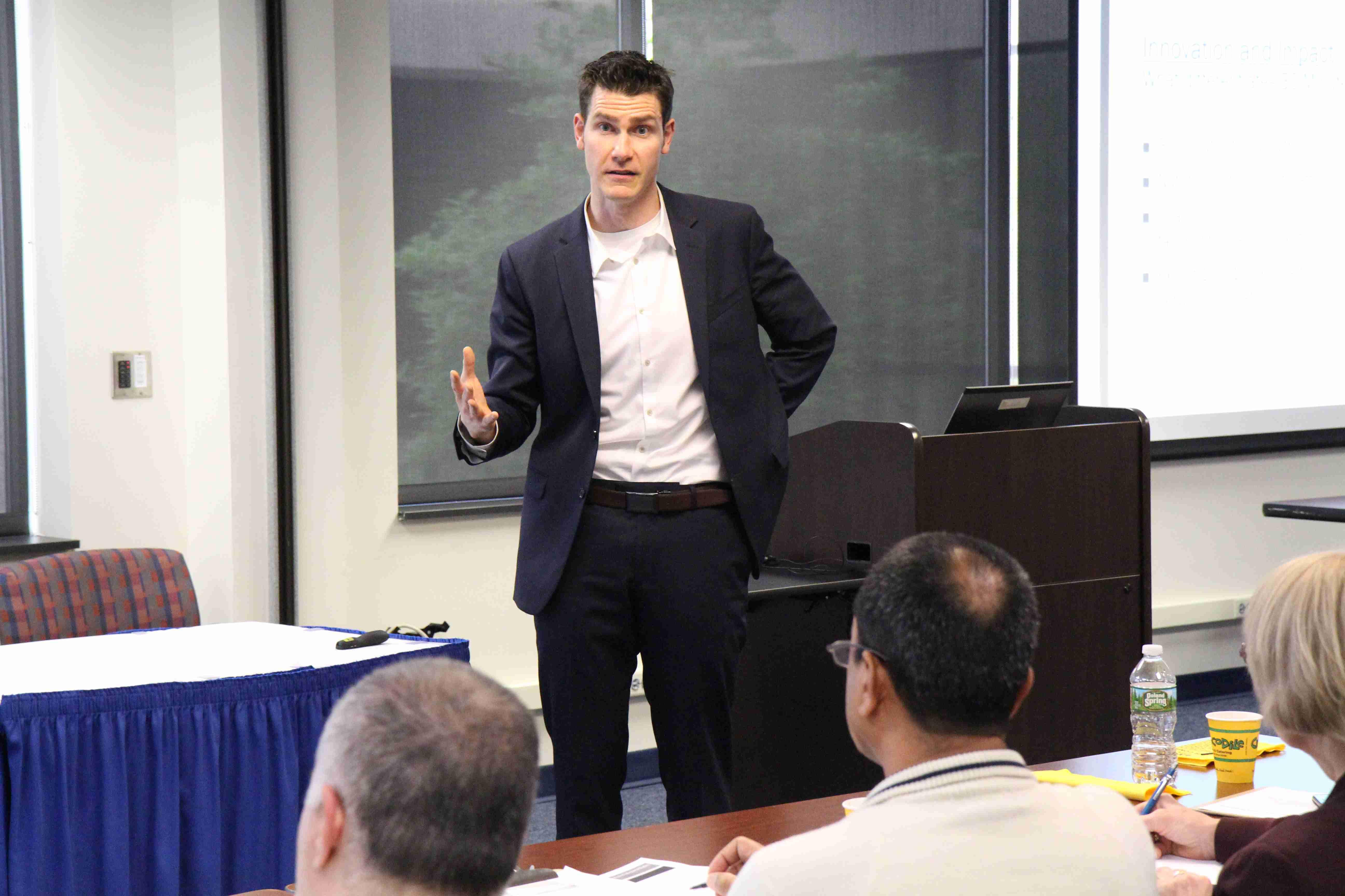 Matt speaking at Penn State
