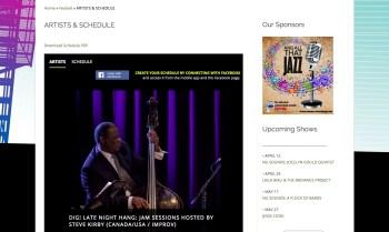 2015.04.20 - Winnipeg Jazz Festival Website 1